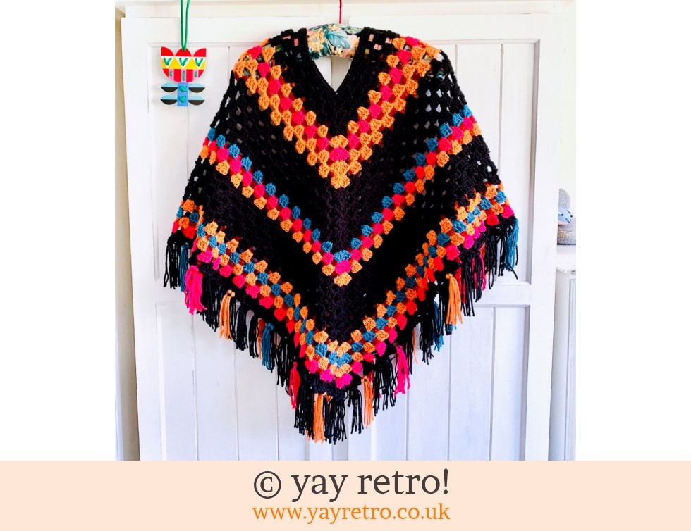 yay retro!: Pre-ordered Special Order Adult Boho Poncho WITH TASSELS (£47.50)
