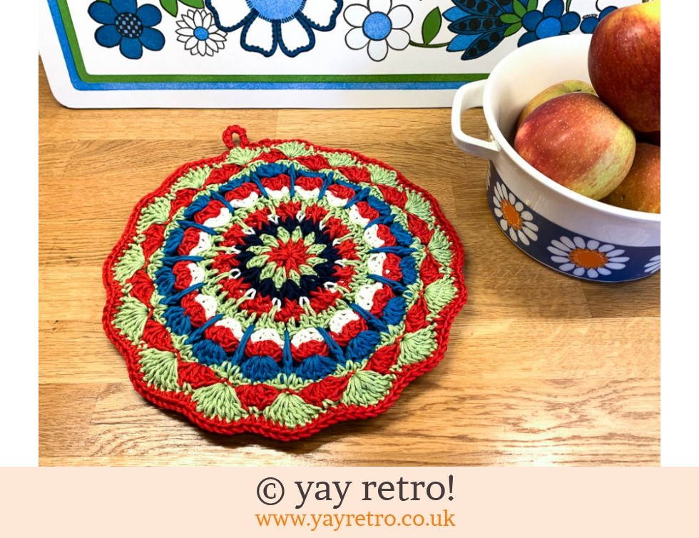70s Inspired Crochet Mandala Pot Stand / Doily / Artwork (£14.00)