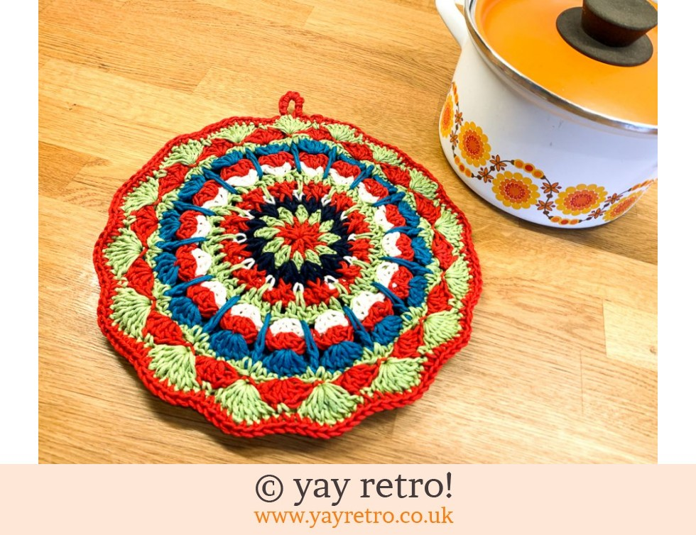 yay retro!: 70s Inspired Crochet Mandala Pot Stand / Doily / Artwork (£14.00)