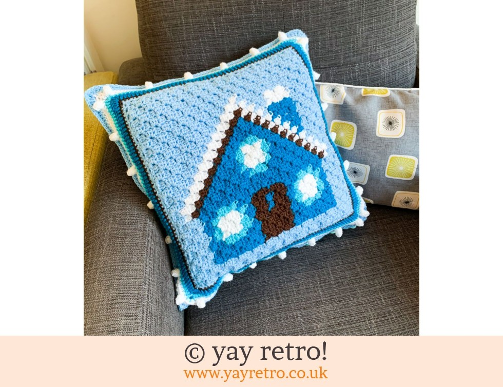 Cute House Crochet Cushion (£32.50)