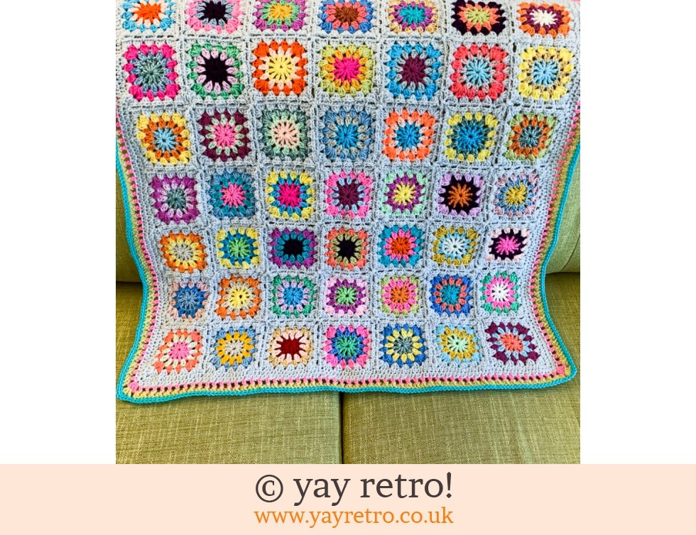 Flower Power Granny Square Blanket (£35.50)