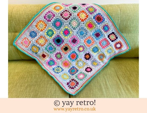 152: Flower Power Granny Square Blanket (£35.50)