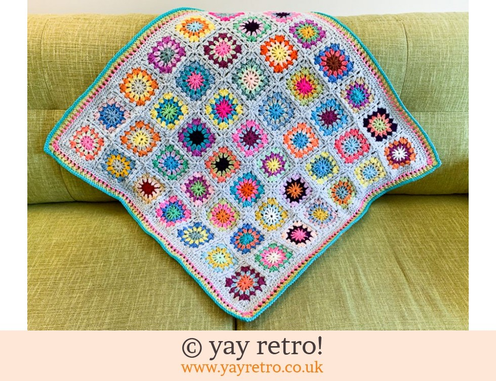 yay retro!: Flower Power Granny Square Blanket (£35.50)
