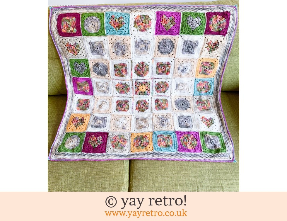 CHARITY SALE Granny Square Throw (£45.00)