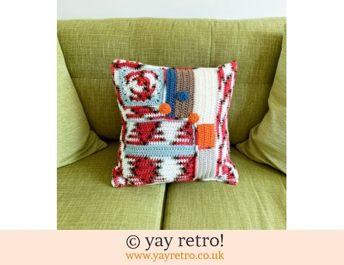 Large Abstract Crochet Cushion (£21.50)