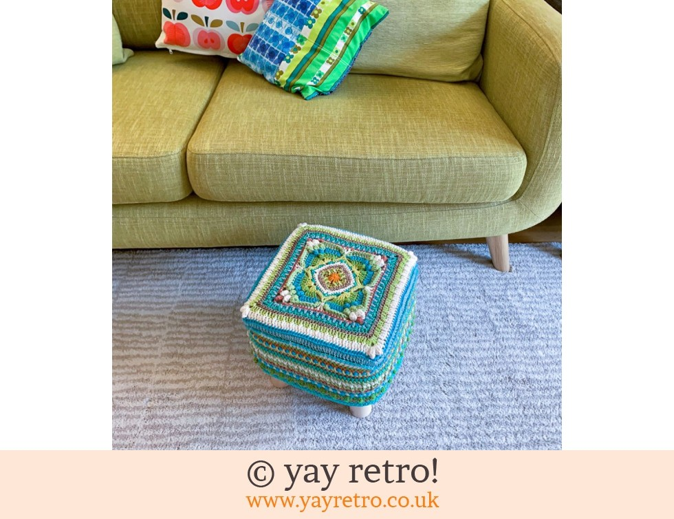 'Parterre' Crocheted Scandi Style Stool (£75.00)