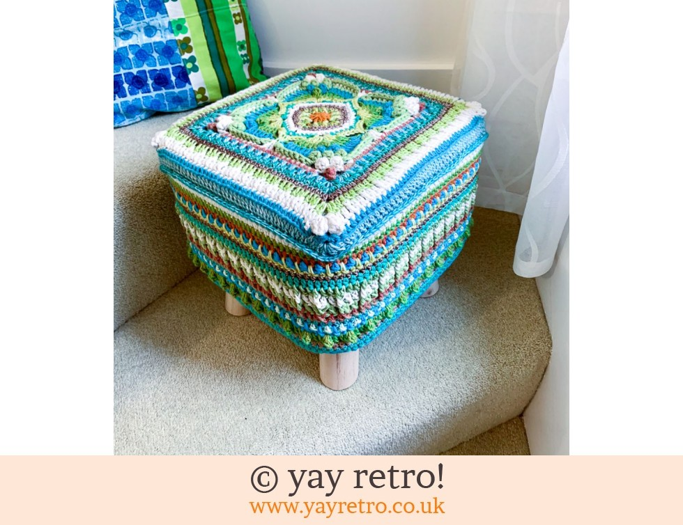 yay retro!: 'Parterre' Crocheted Scandi Style Stool (£75.00)