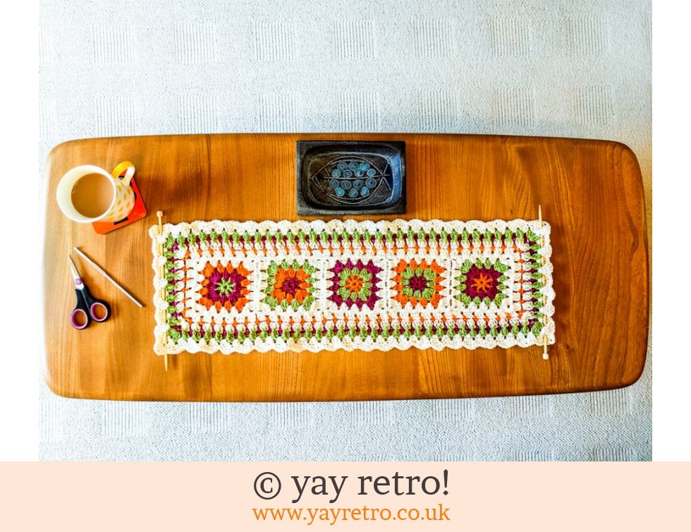 yay retro!: Crochet Table Runner / Wall Hanging SALE (£12.00)
