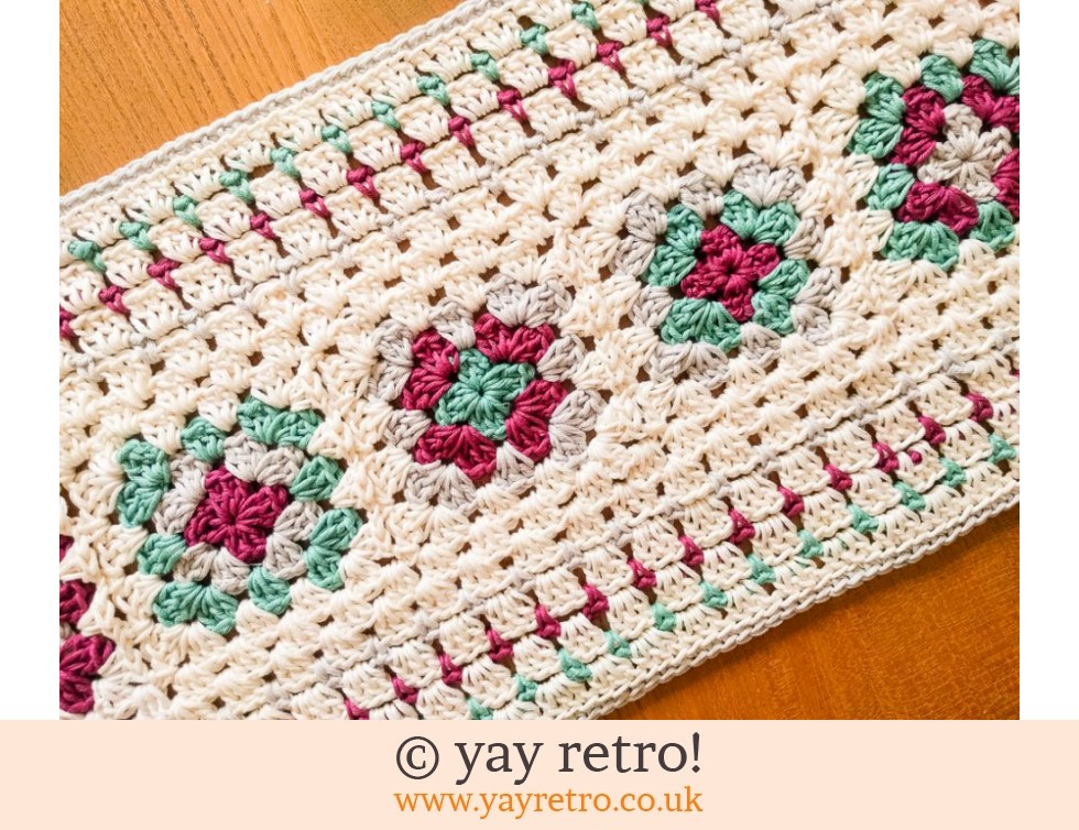 Crochet Table Runner 70s styled (£20.00)