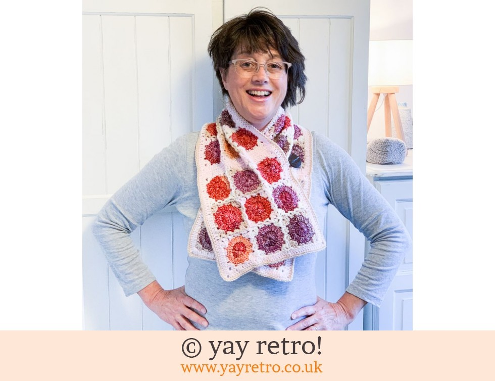yay retro!: Crochet Cute Dotty Button Thru Shawl/Cowl (£28.00)