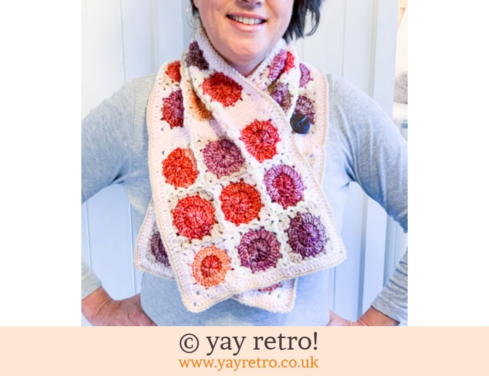 Crochet Cute Dotty Button Thru Shawl/Cowl (£28.00)