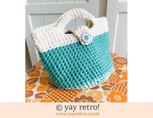 152: Crochet Handbag Pure Cotton (£29.50)