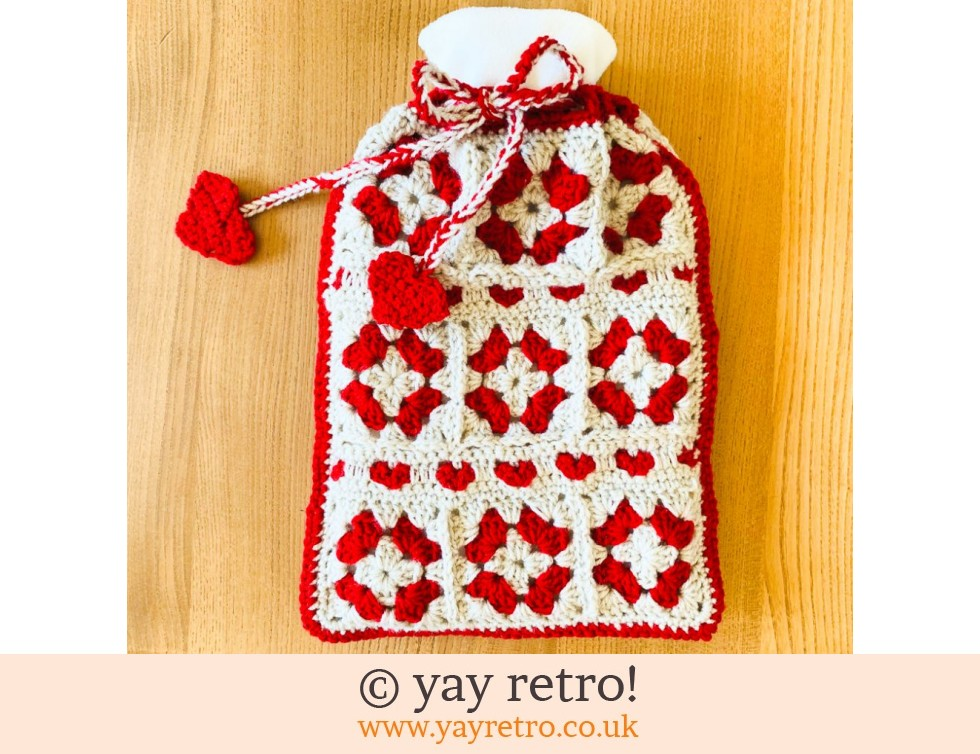 Hygge Hearts Crochet Hot Water Bottle (£18.50)