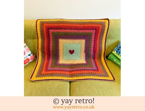 Autumn Love Heart Blanket (£25.50)