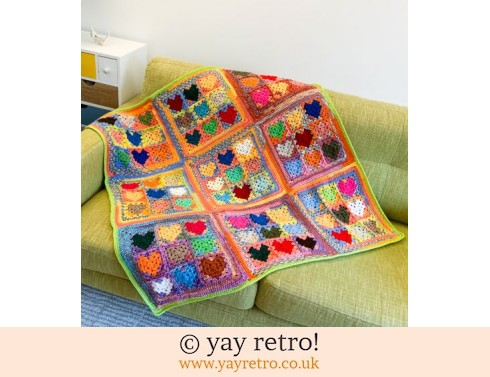 152: 'Love Me Do' Crochet Heart Blanket (£49.50)