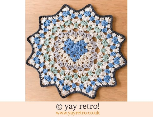 Winter Love Heart Crochet Mandala Doily (£12.75)