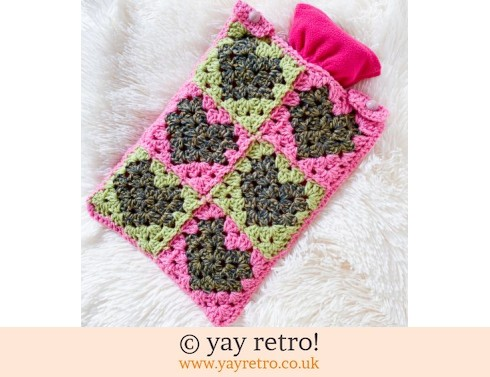 152: Pistachio with Love Crochet Hot Water Bottle Set (£18.50)