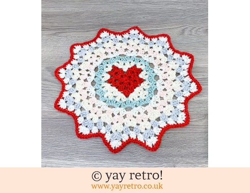 152: Crochet Love Heart Mandala - Send a Hug in the Post! (£12.75)