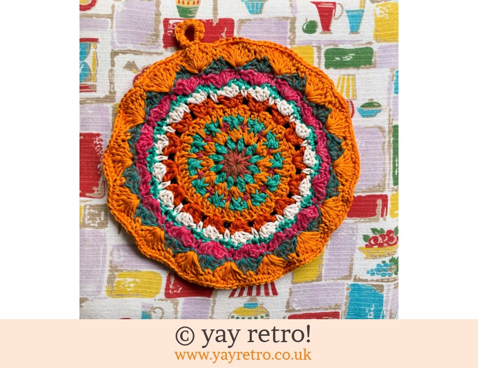 yay retro!: 70s Inspired Crochet Mandala Pot Stand / Doily / Artwork (£12.95)