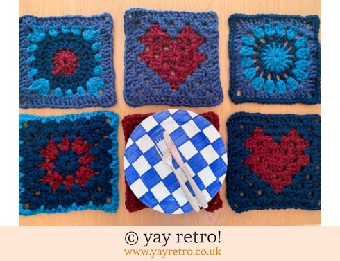 Supersize Granny Square Placemats - Proceeds to Charity (£22.00)