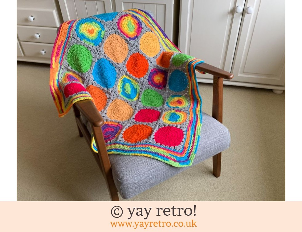 Oversize Polka Dot Crochet Blanket / Throw (£30.00)