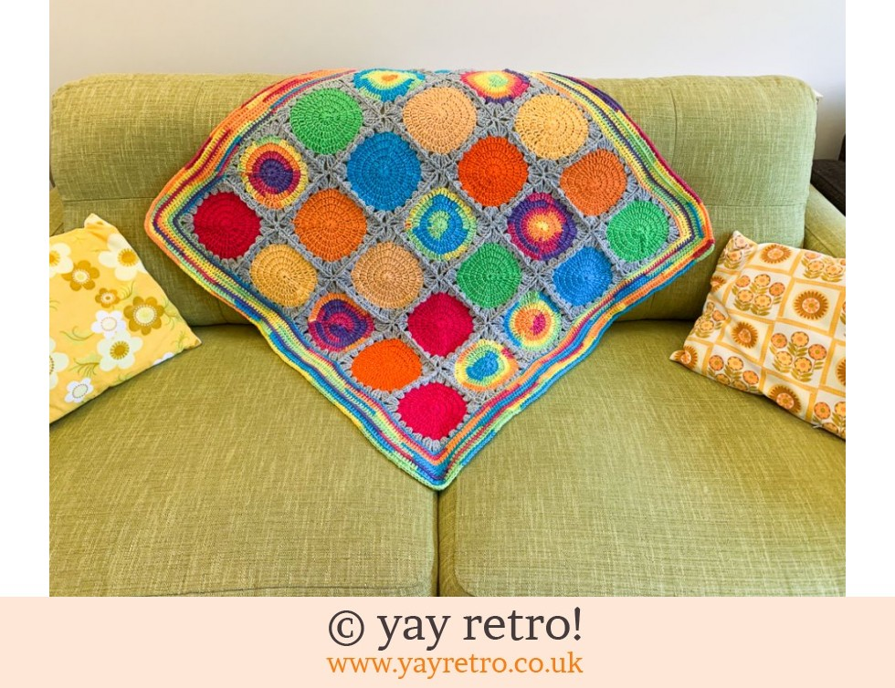 yay retro!: Oversize Polka Dot Crochet Blanket / Throw (£30.00)
