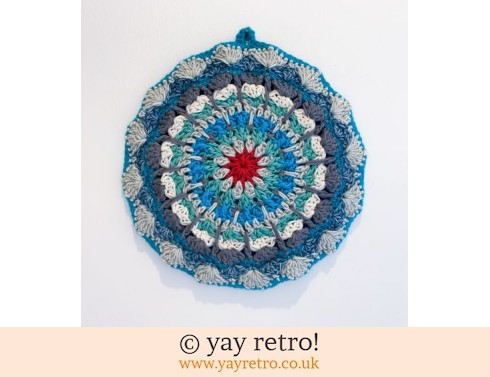 152: 'Sea Foam'  Crochet Mandala Pot Stand/ Doily / Artwork (£12.95)