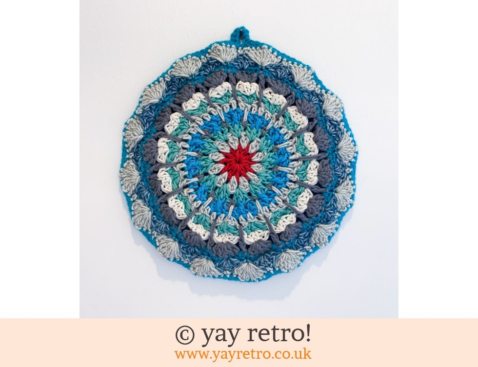 yay retro!: 'Sea Foam'  Crochet Mandala Pot Stand/ Doily / Artwork (£12.95)