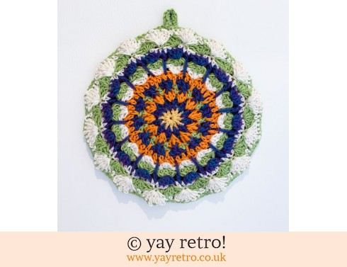 'Viola' Crochet Mandala Pot Stand/ Doily / Artwork (£12.95)