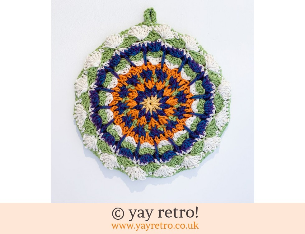 yay retro!: 'Viola' Crochet Mandala Pot Stand/ Doily / Artwork (£12.95)