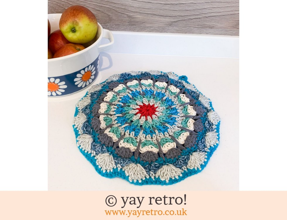 'Sea Foam'  Crochet Mandala Pot Stand/ Doily / Artwork (£12.95)