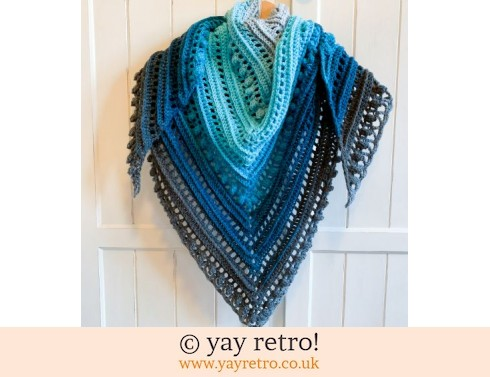 152: Crochet Secret Paths Shawl - Blue (£32.50)