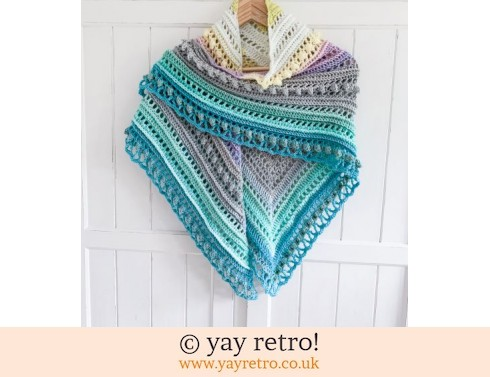 152: 'Sherbet' Secret Paths Crochet Shawl (£32.50)