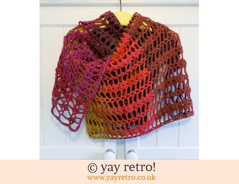 152: Winter Warmer 'Love Hearts' Crochet Shawl/Scarf (£22.50)