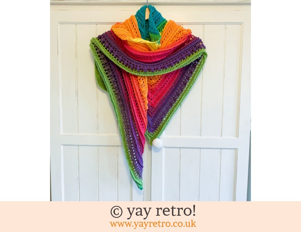 Rainbow Crochet Shawl (£32.50)