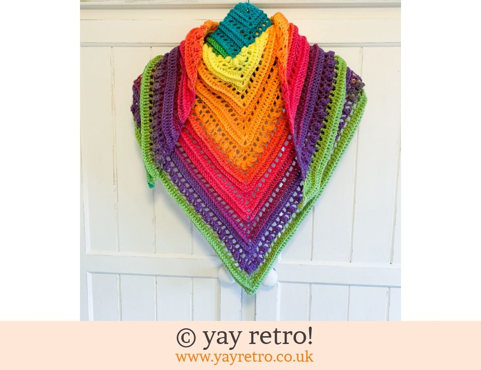 yay retro!: Rainbow Crochet Shawl (£32.50)