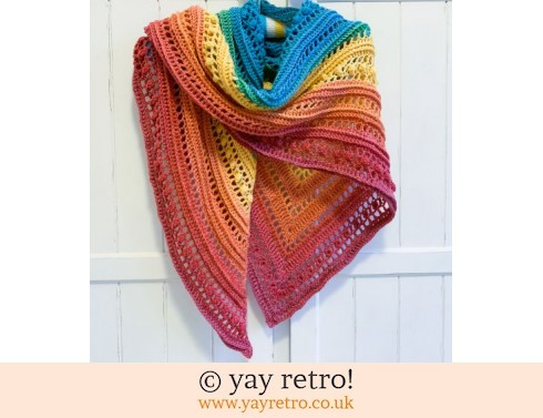 152: Rainbow 2 Crochet Shawl (£32.50)