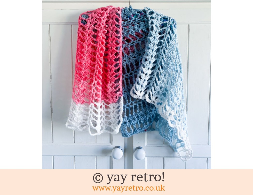 yay retro!: Candy Floss Crochet Shawl (£22.50)