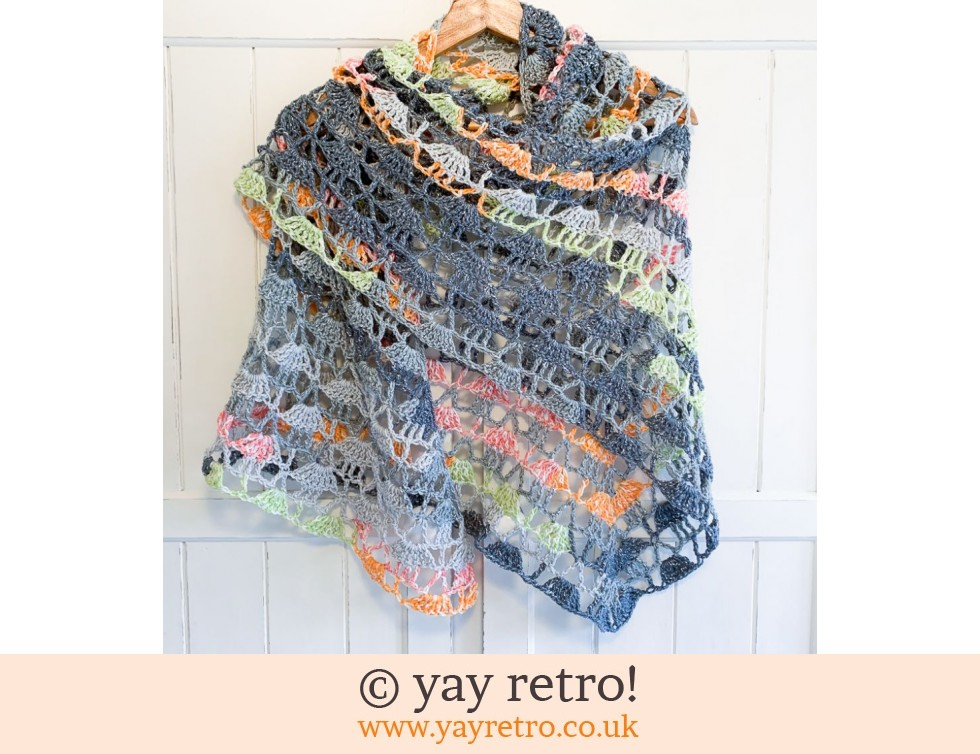 Harmony' Crochet Shawl - Buy yay retro Handmade Crochet