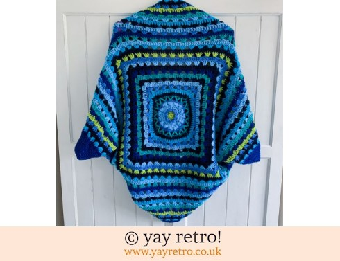 Pre-Order a Blue Bloom Cocoon Crochet Shrug (£75.00)