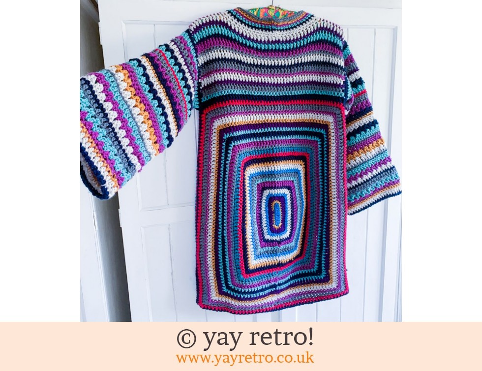70s Styled Crochet Jumper with Bell Sleeve (£75.00)