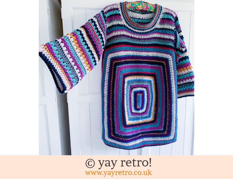 yay retro!: 70s Styled Crochet Jumper with Bell Sleeve (£75.00)