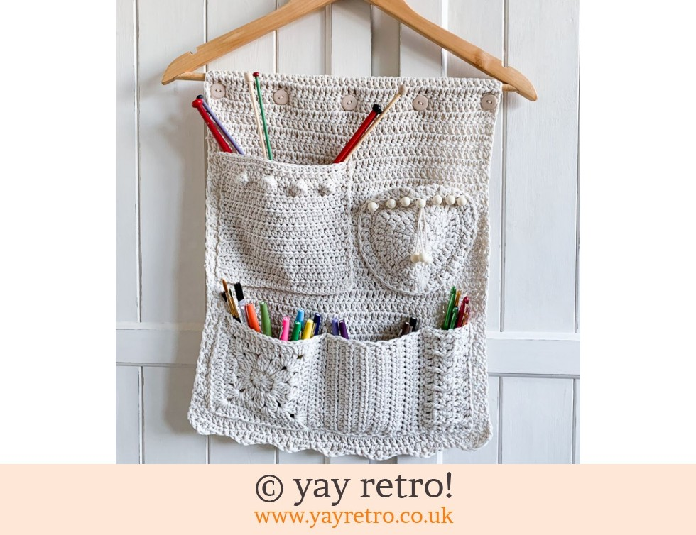 Natural Crochet Pocketed Wall Hanging (£24.00)