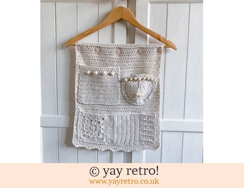 152: Natural Crochet Pocketed Wall Hanging (£29.95)