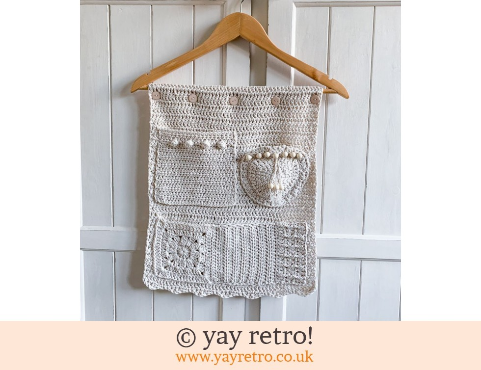 yay retro!: Natural Crochet Pocketed Wall Hanging (£24.00)
