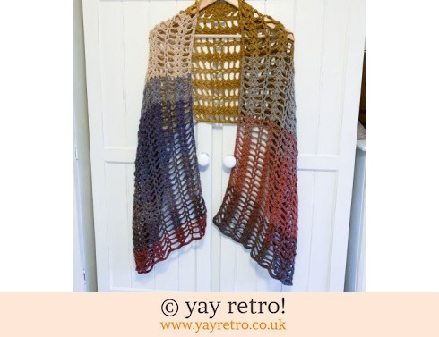 152: Autumn 'Love Hearts' Crochet Shawl/Scarf from yay retro (£22.50)