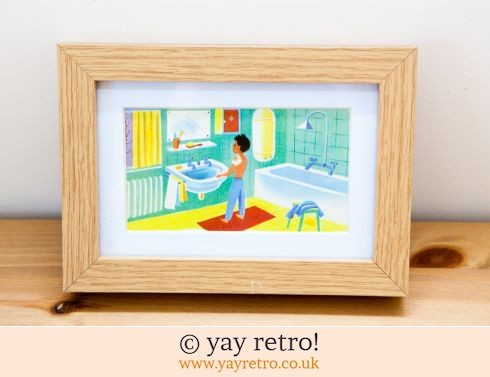 0: 1960s Ready for Bed Framed Illustration (£7.00)