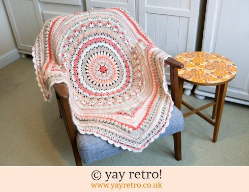 152: Stunning 'Caramelised Orange' Crochet Blanket (£60.00)