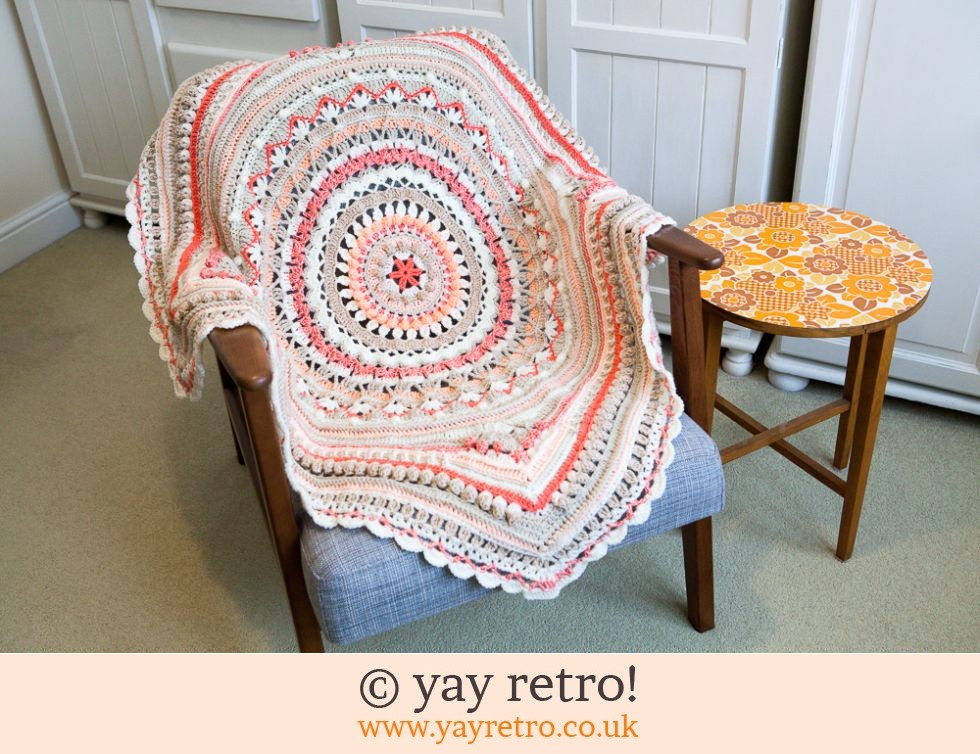 Stunning Caramelised Orange Crochet Blanket Sale Buy Yay Retro