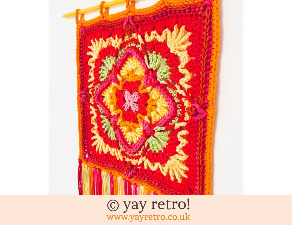 'Strawberry Fields' Crochet Wall Hanging (£20.00)